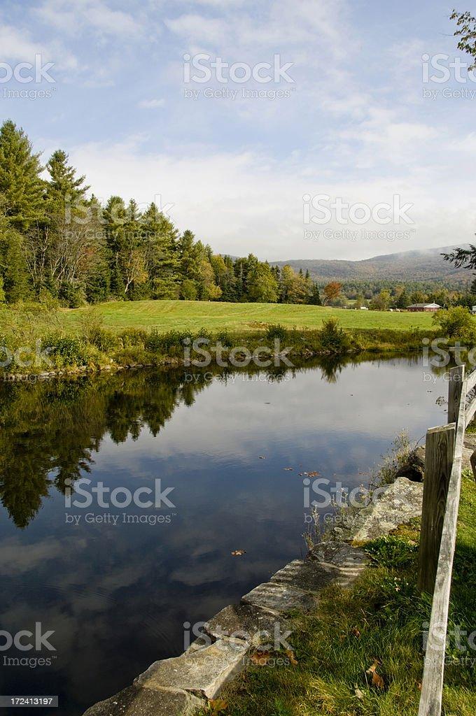 Vermont Pond stock photo
