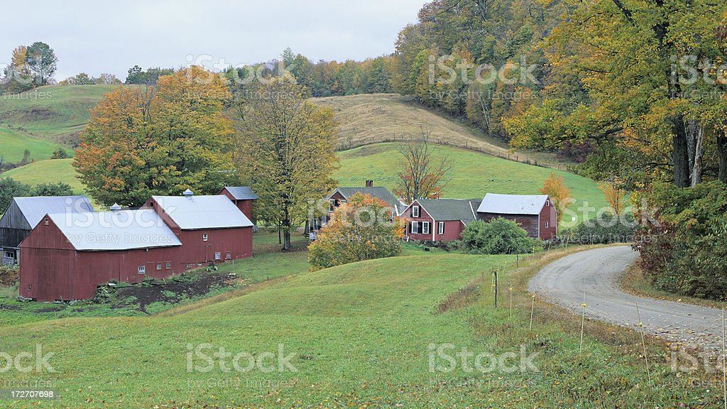 Vermont Postcard royalty-free stock photo
