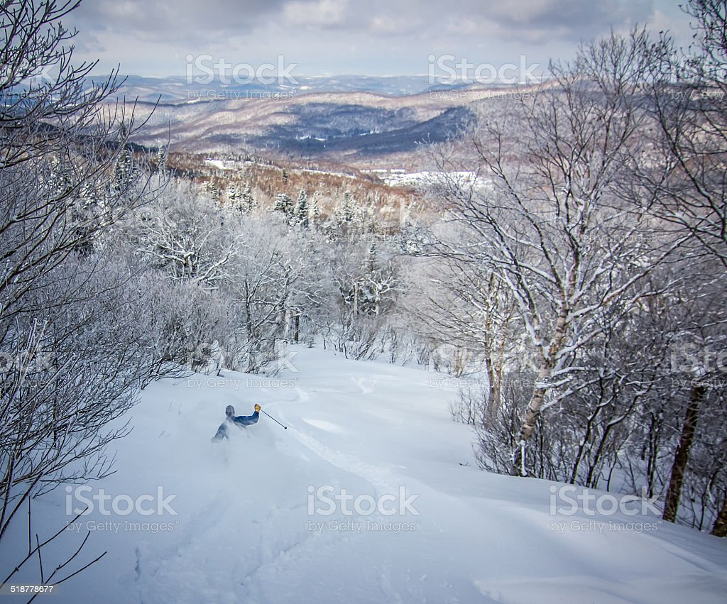 Vermont Skiing stock photo