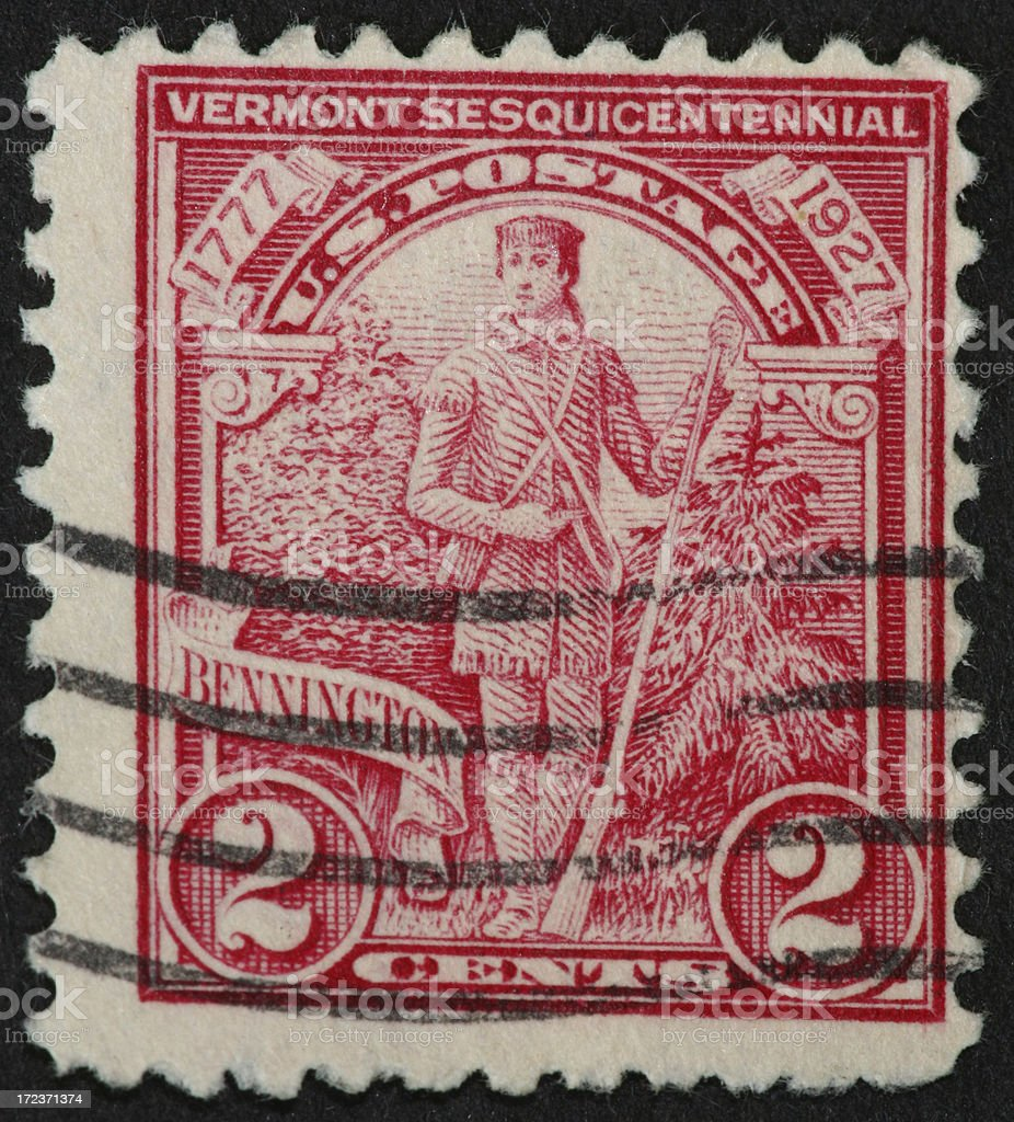 Vermont stamp 1927 stock photo