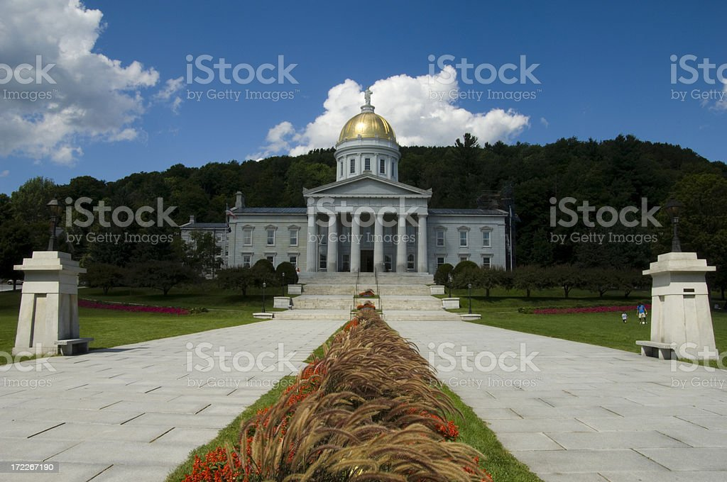 Vermont State Capitol royalty-free stock photo