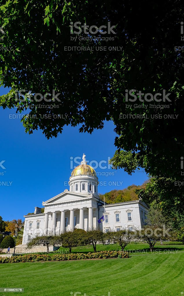 Vermont State House Architecture, United States stock photo