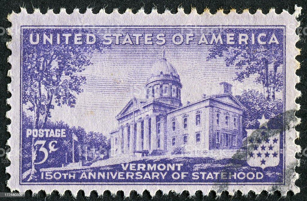 Vermont Statehood Stamp royalty-free stock photo