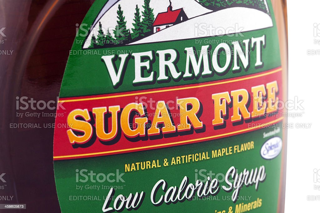 Vermont Sugar Free Syrup stock photo
