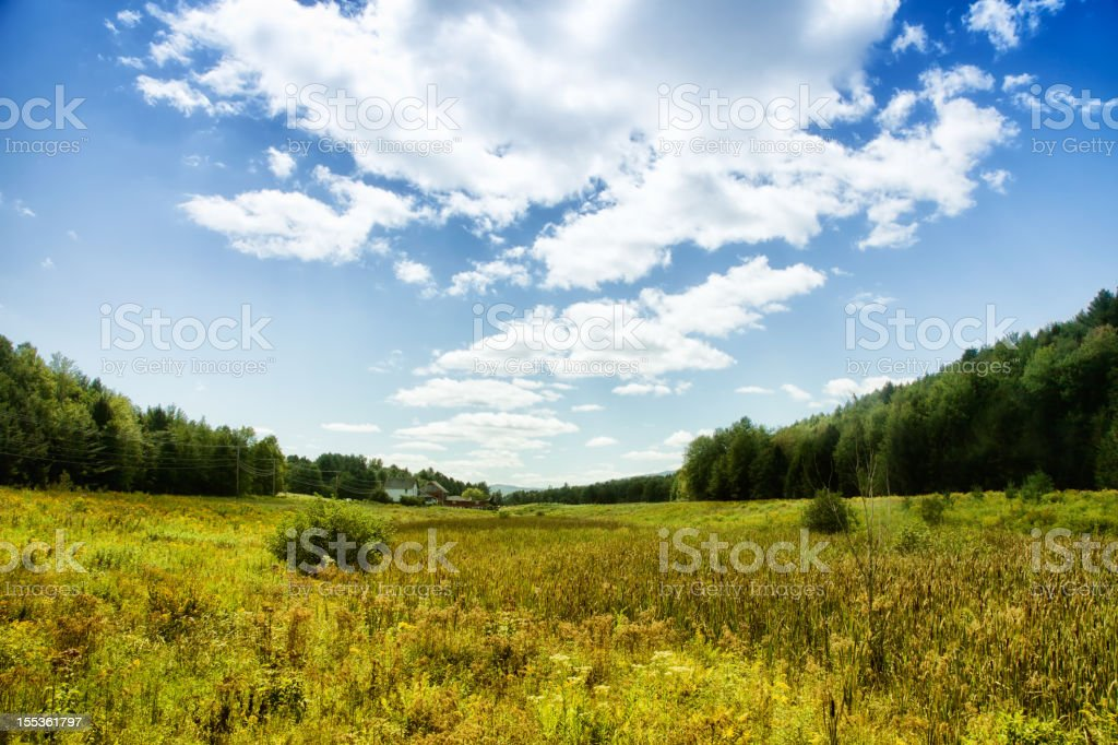 Vermont Valley Landscape royalty-free stock photo