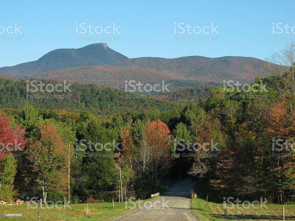 Vermont's Camel's Hump Mountain stock photo