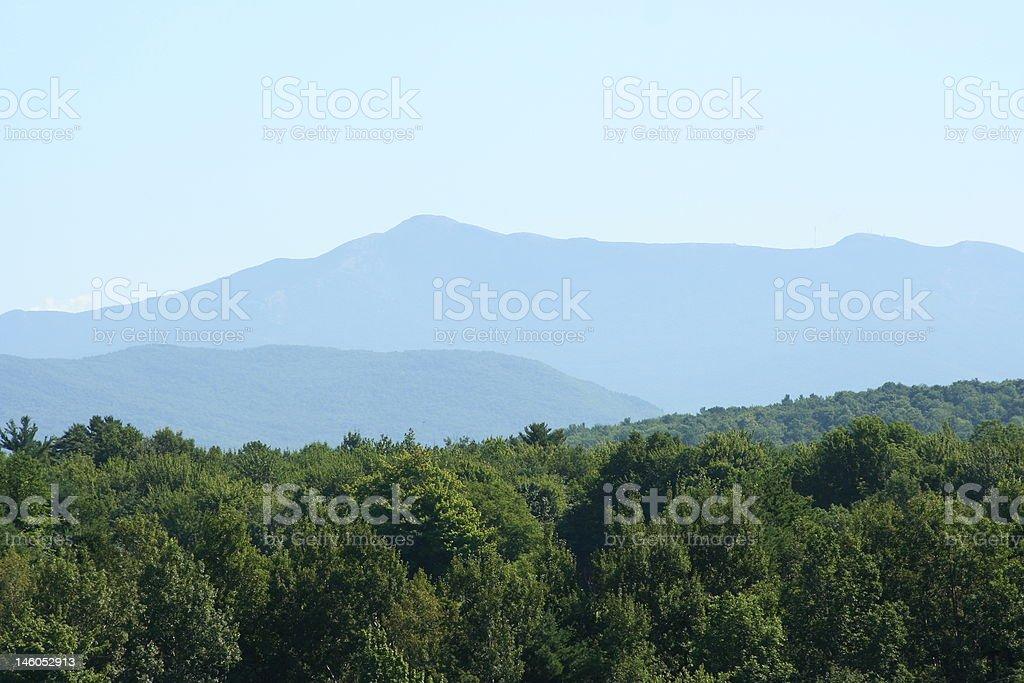 Vermont's Mount Mansfield Range stock photo