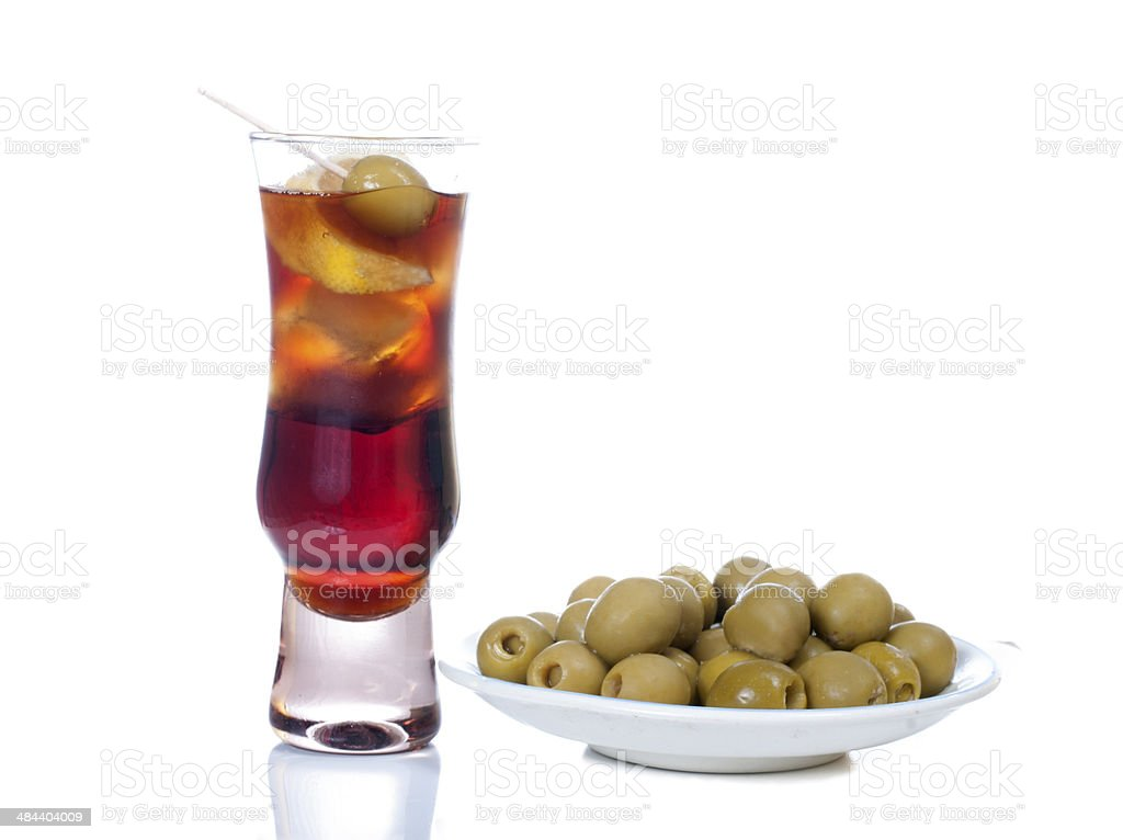 Vermouth and aperitif stock photo