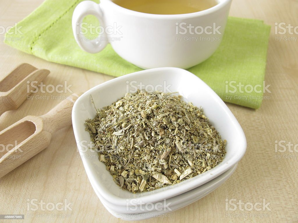 Vermouth tea stock photo