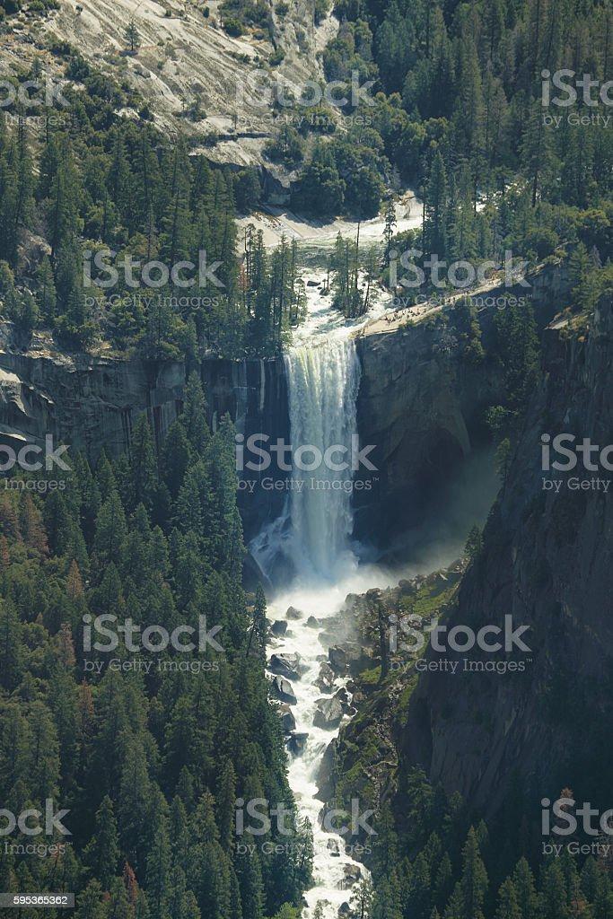 Vernal falls falls in Yosemite national Park stock photo