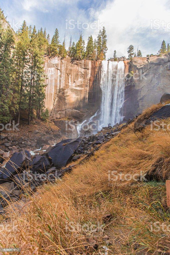 Vernal falls in Yosemite California stock photo