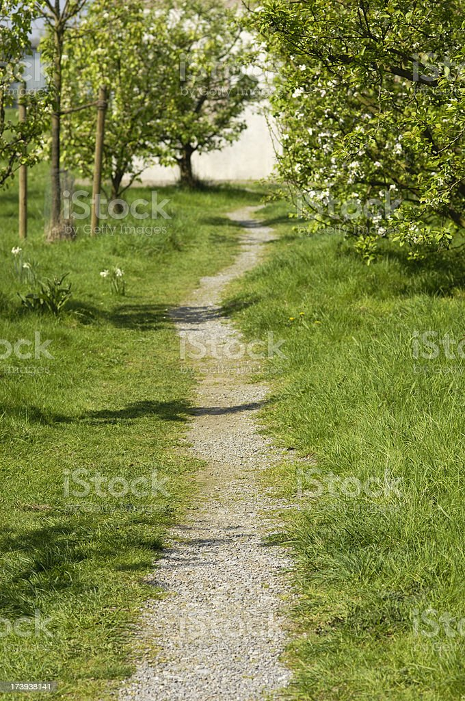 Vernal footpath royalty-free stock photo