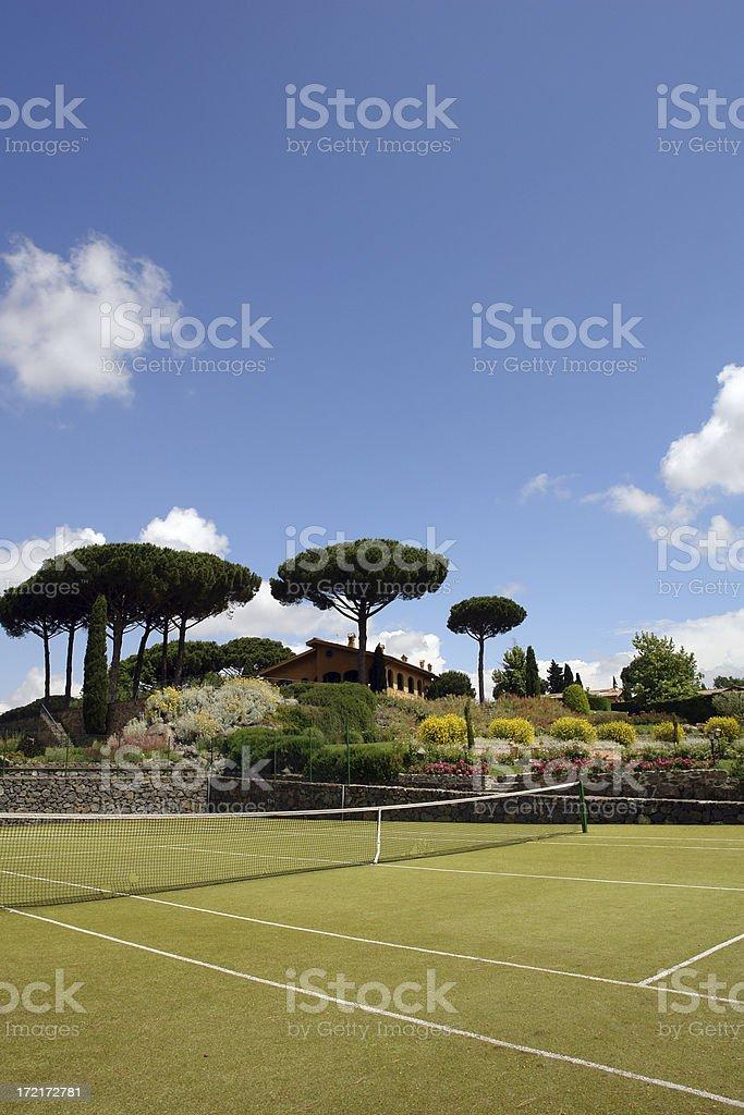 Vernal tennis court stock photo