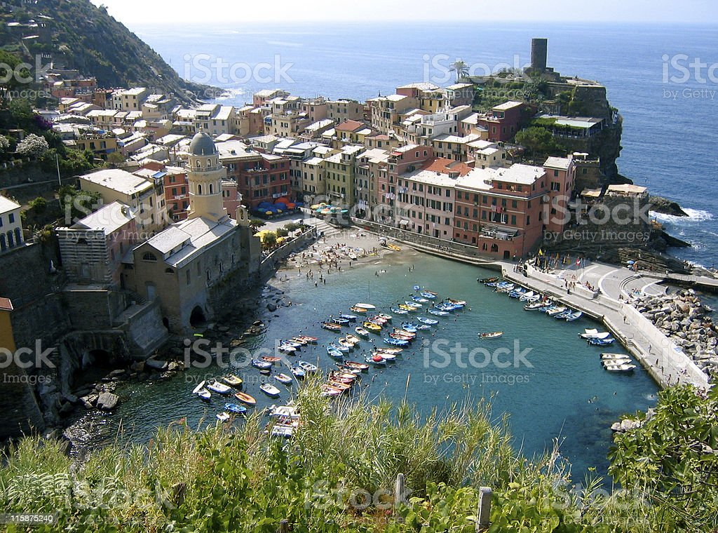 Vernazza Cinque Terra Italy royalty-free stock photo