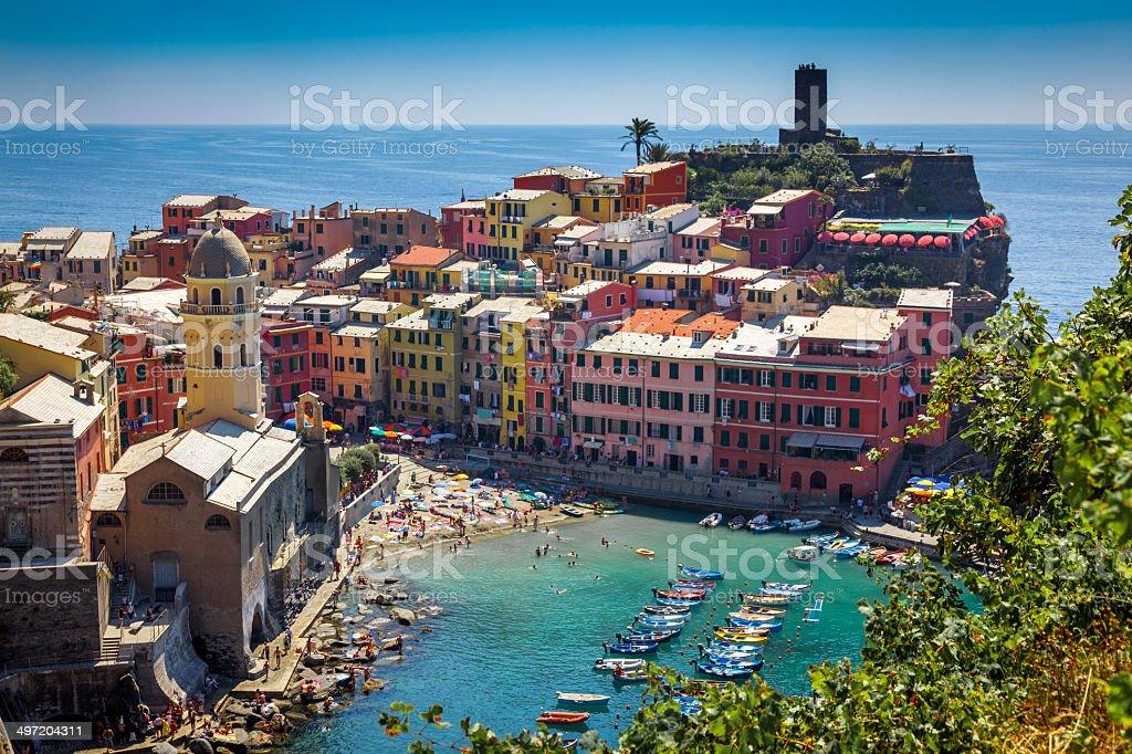 Vernazza, Cinque Terre, Italy stock photo