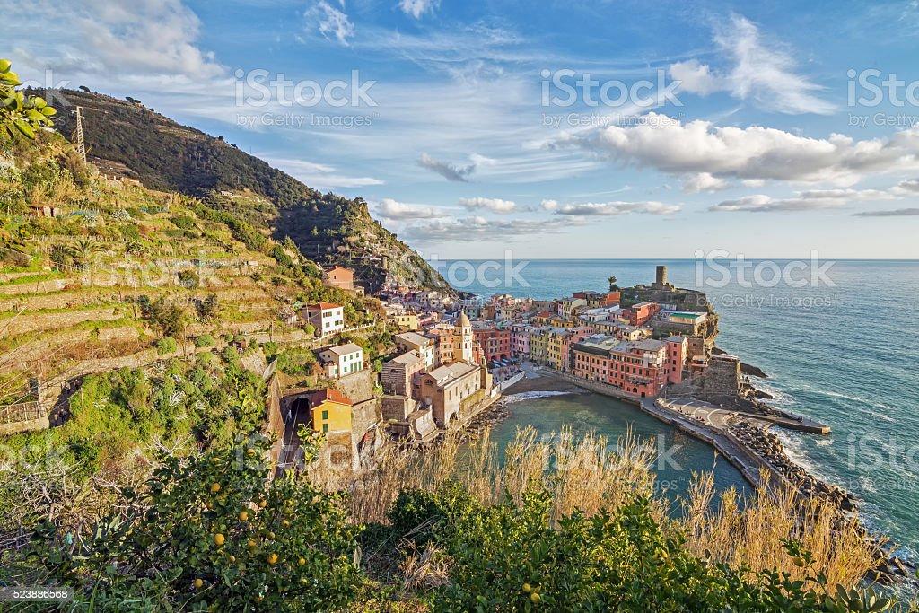 Vernazza, Cinque Terre, Liguria, Italia stock photo
