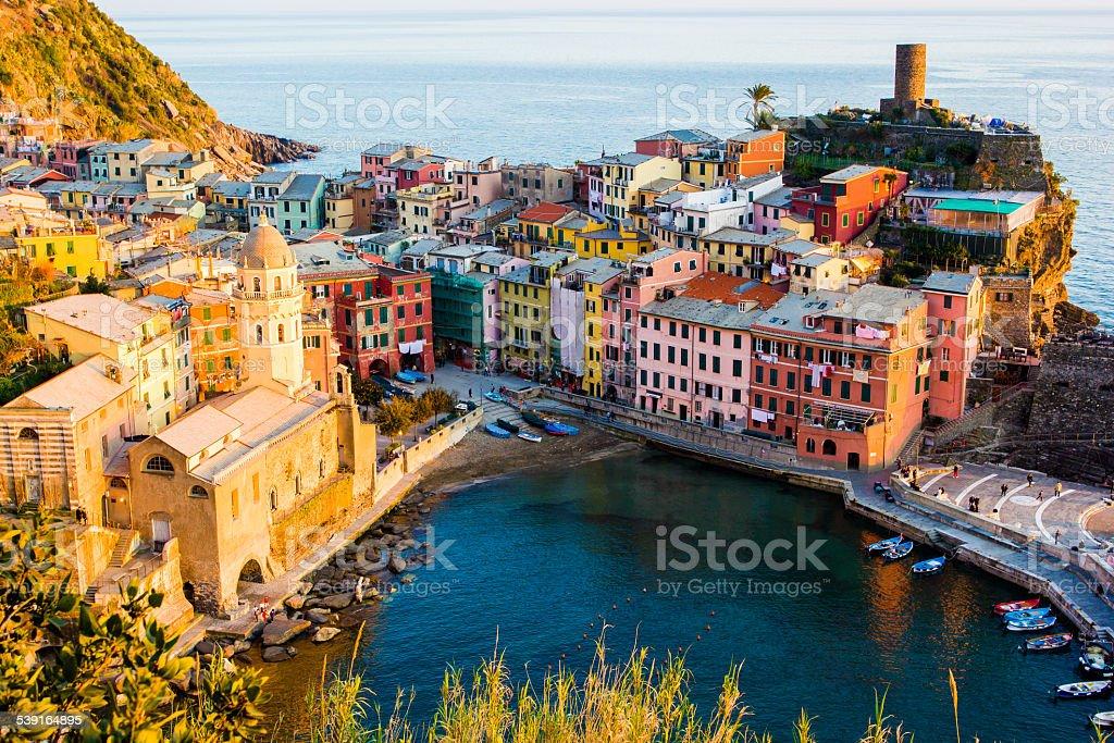 Vernazza, Cinque Terre National Park, Italy stock photo