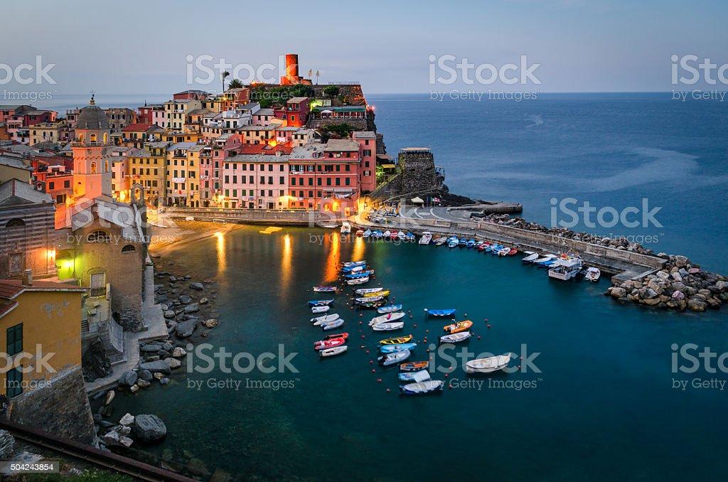Vernazza Cinque Terre (Italian riviera Liguria Italy) stock photo