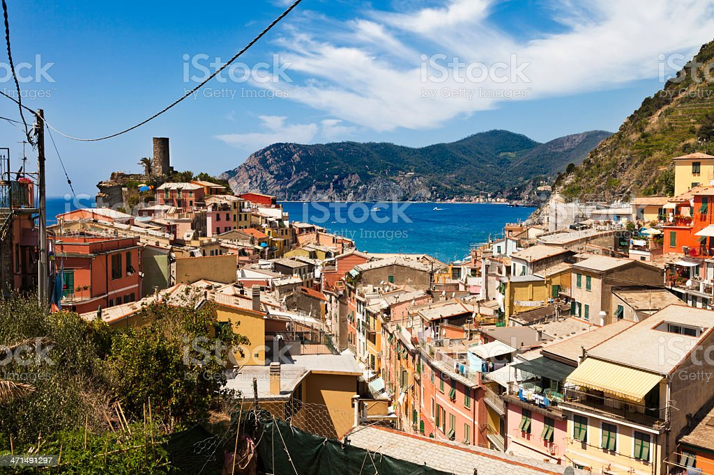 Vernazza colourfull houses, Cinque Terre royalty-free stock photo
