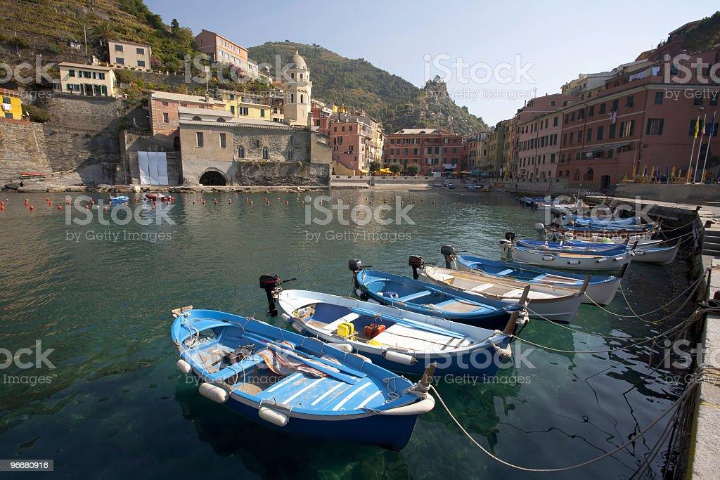 Vernazza harbor stock photo