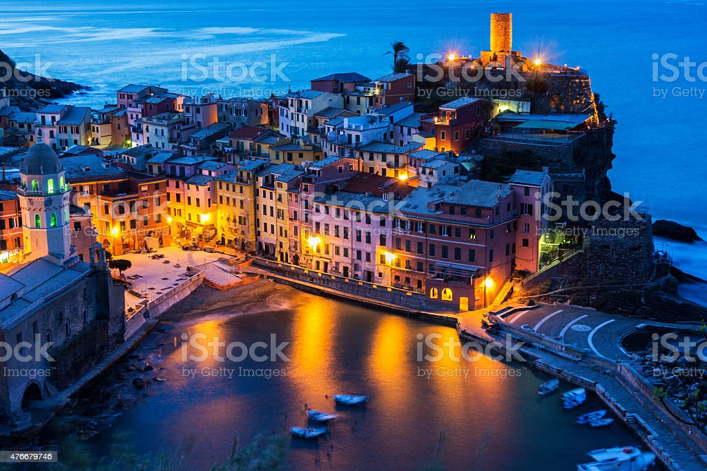 Vernazza in Cinque Terre in Italy stock photo