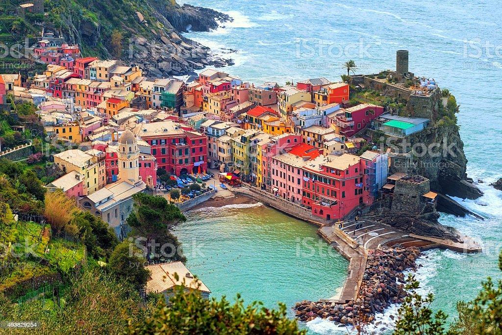 Vernazza in Cinque Terre, Italy stock photo