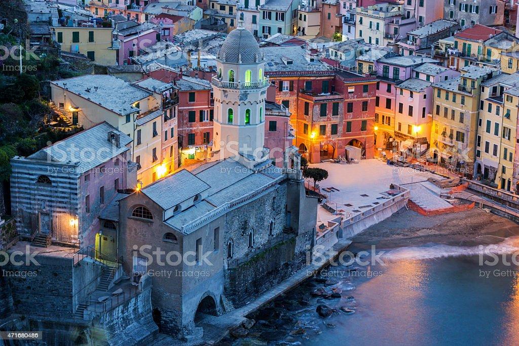 Vernazza in Cinque Terre region in Italy stock photo