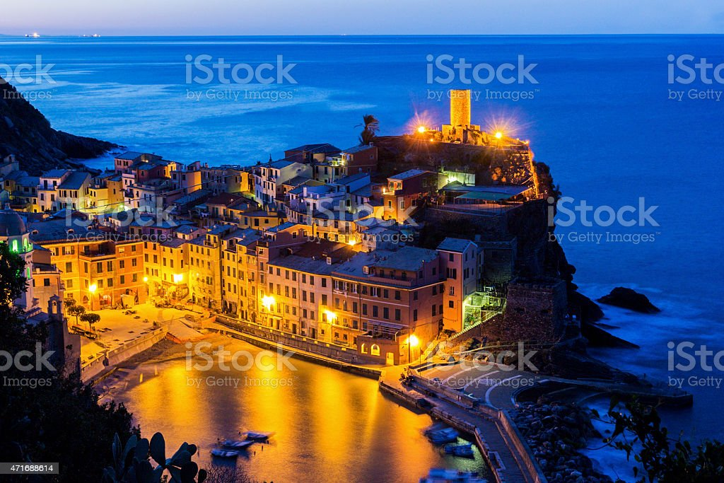 Vernazza in Cinque Terre region in Italy stock photo