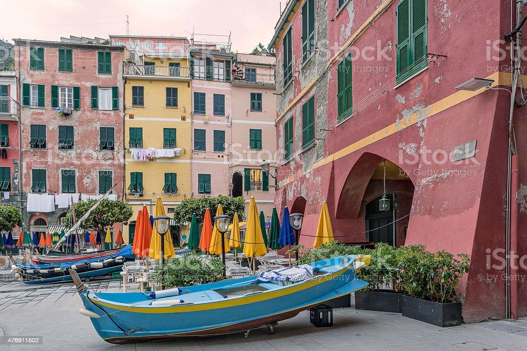 Vernazza on the Cinque Terre in Liguria stock photo