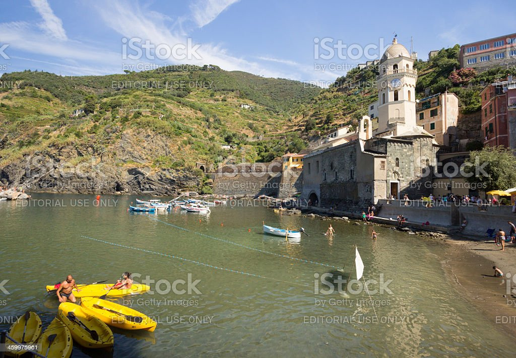 Vernazza on the Cinque Terre, Italy royalty-free stock photo