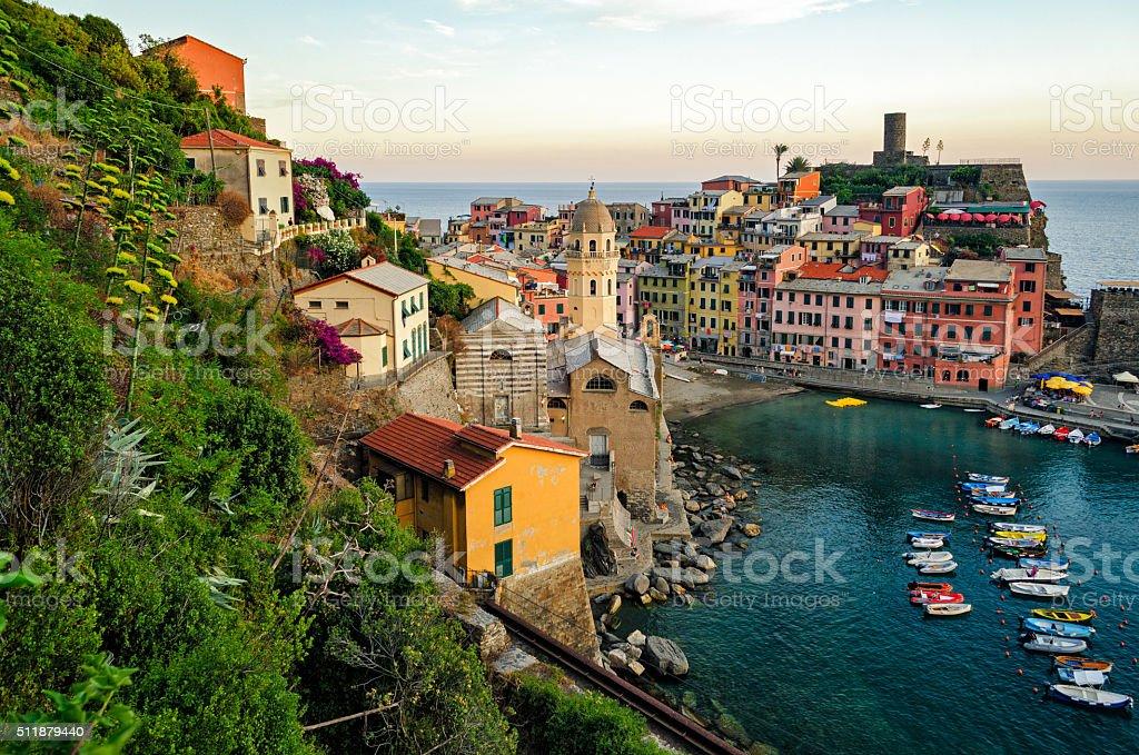 Vernazza (Cinque Terre Italy) stock photo
