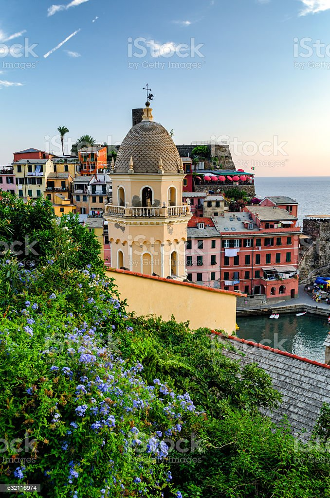 Vernazza (Cinque Terre Italy) stock photo