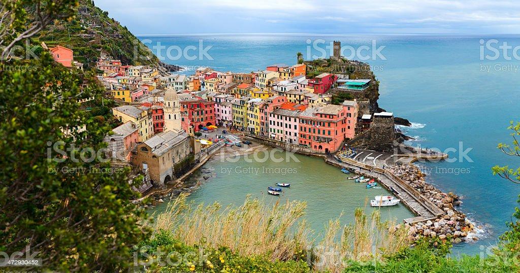 Vernazza village in Cinque Terre stock photo