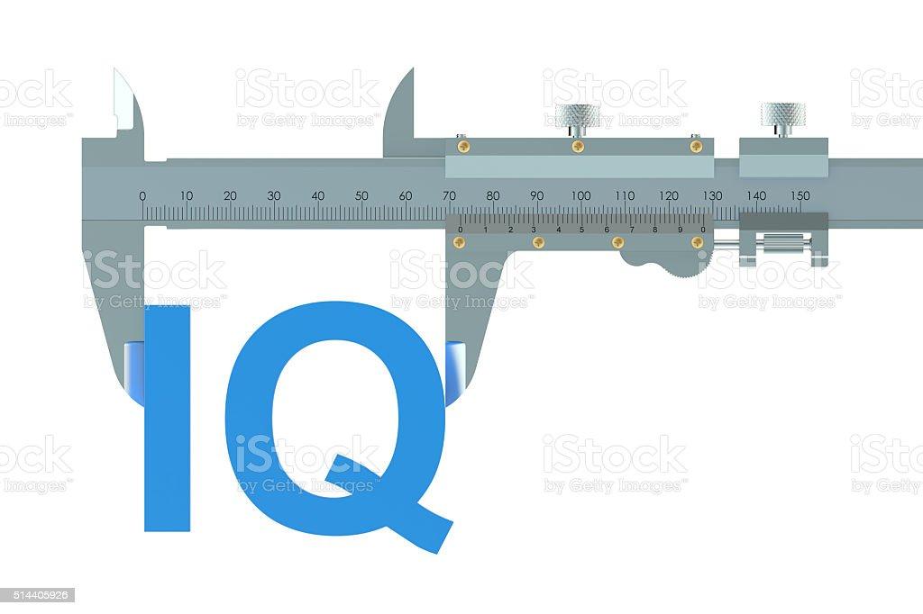 Vernier caliper with IQ stock photo
