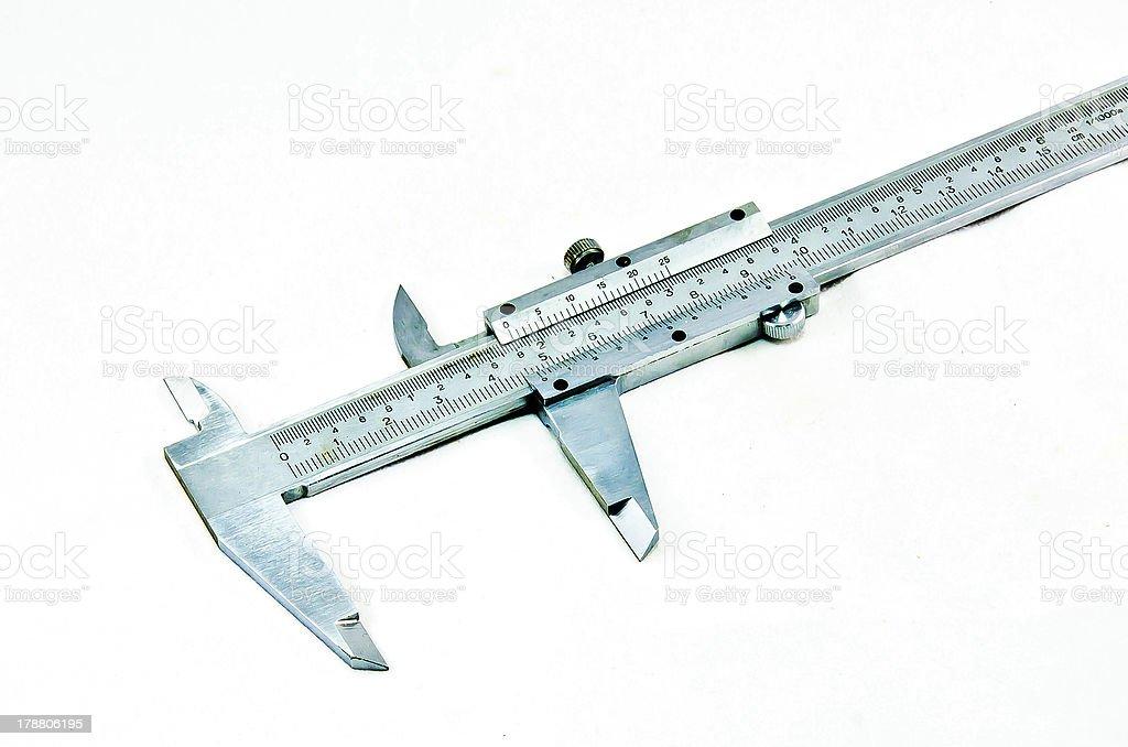 Vernier calipers. royalty-free stock photo
