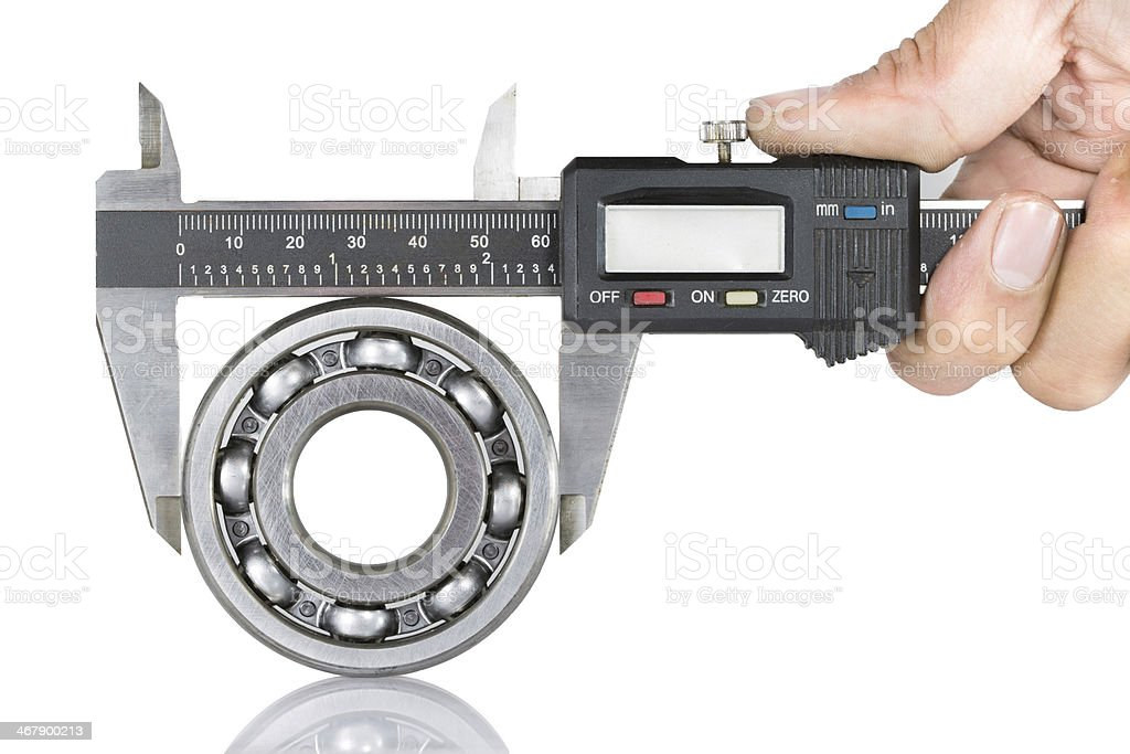 Vernier with bearing stock photo