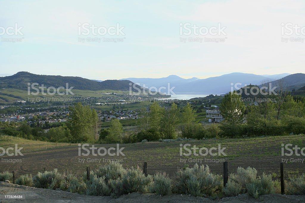 Vernon British Columbia Looking Toward Okanagan Lake royalty-free stock photo