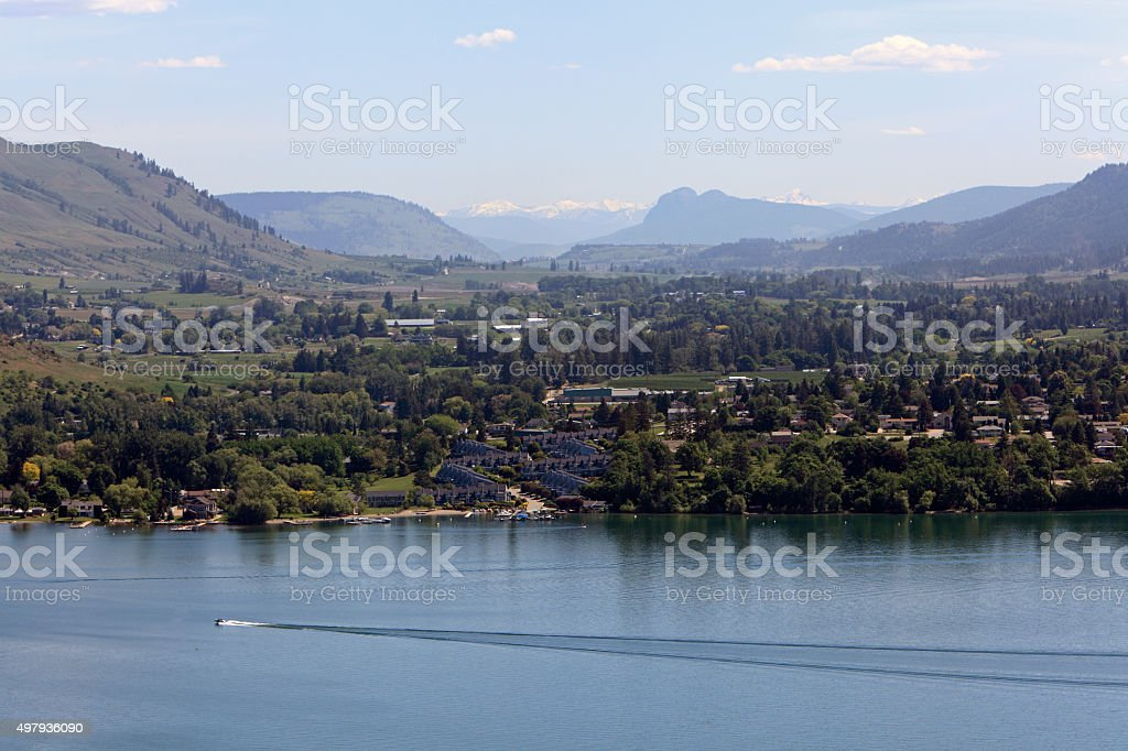 Vernon With Kalamalka Lake,Coldstream And Lumby stock photo