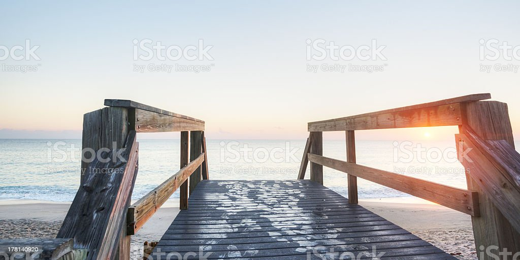 Vero Beach at Sunrise stock photo