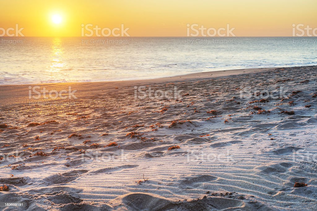 Vero Beach at Surise stock photo