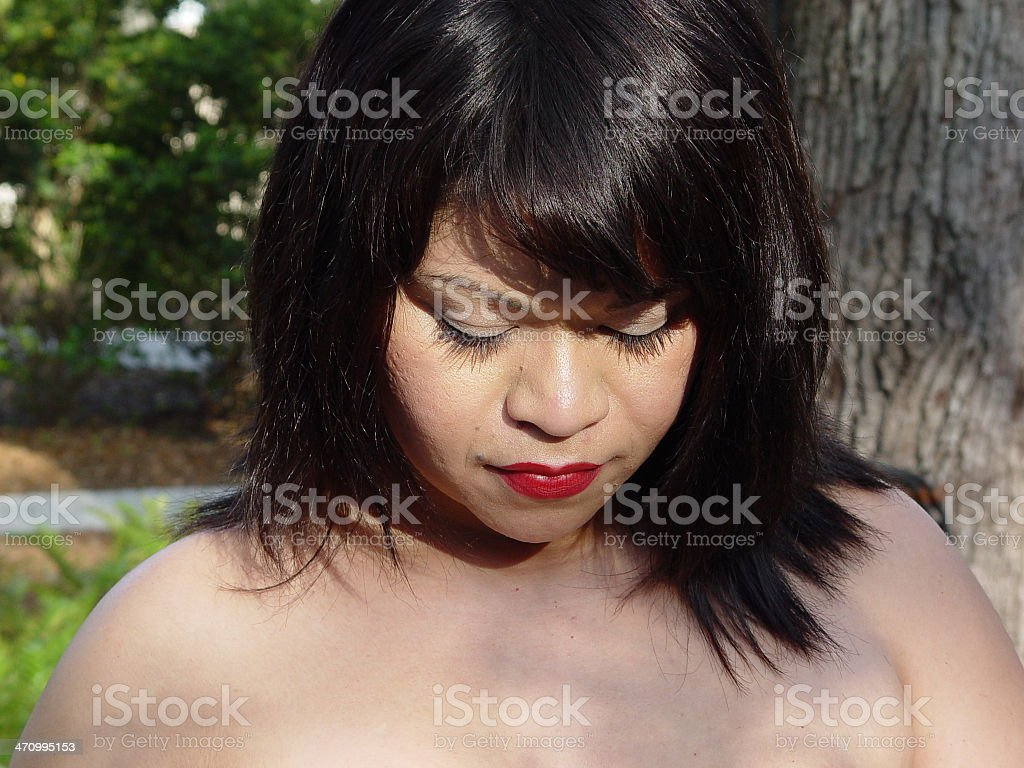 Vero in deep thoughts stock photo