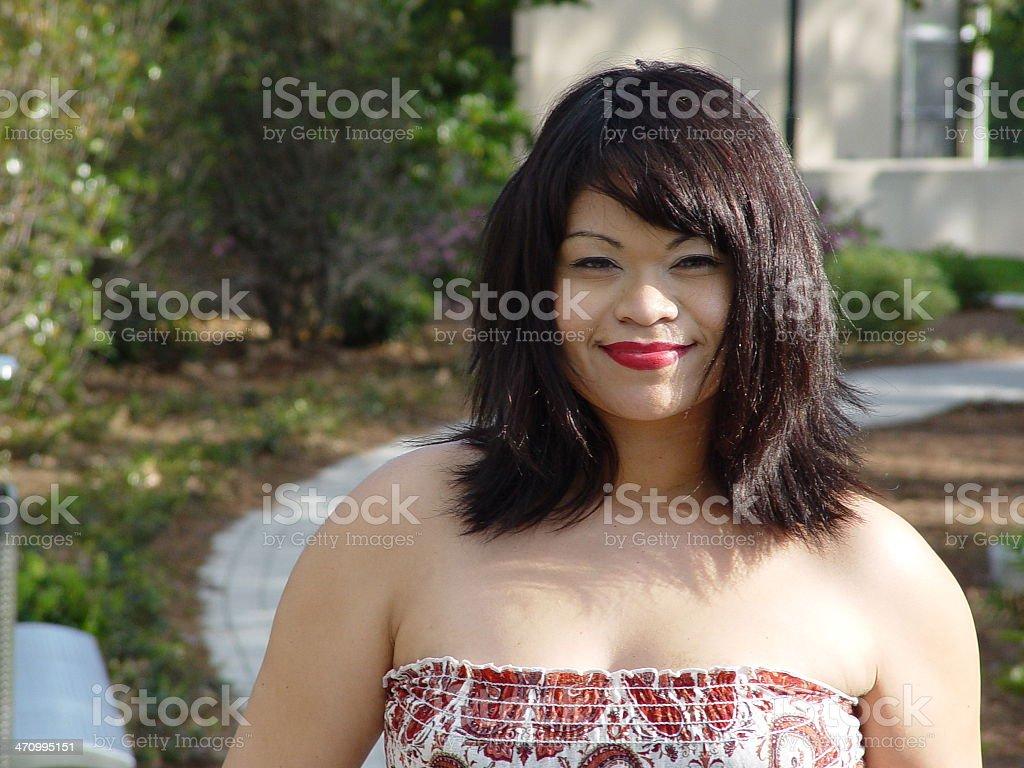 Vero in park-Partial Smile stock photo