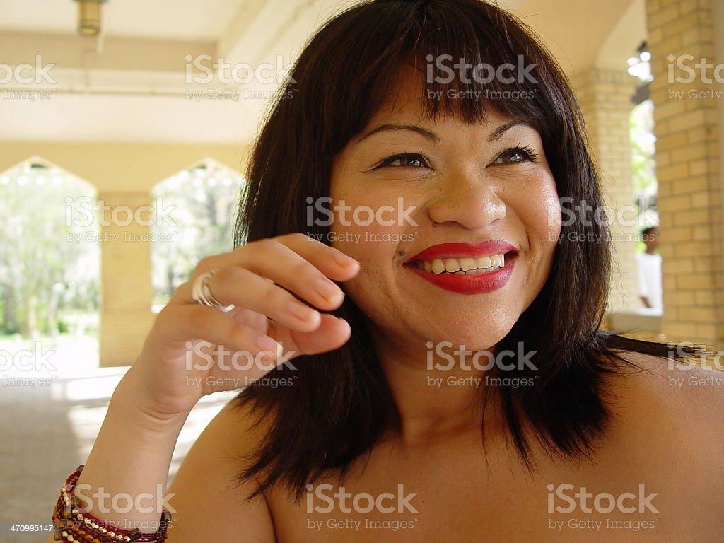 Vero smiles stock photo