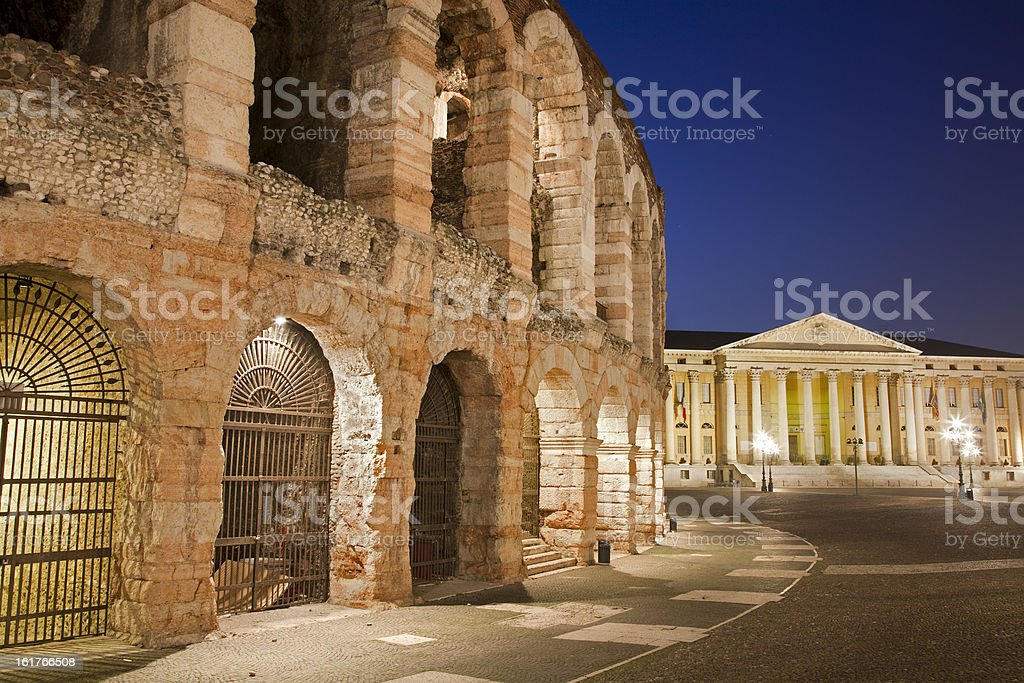 Verona - Arena in dusk royalty-free stock photo