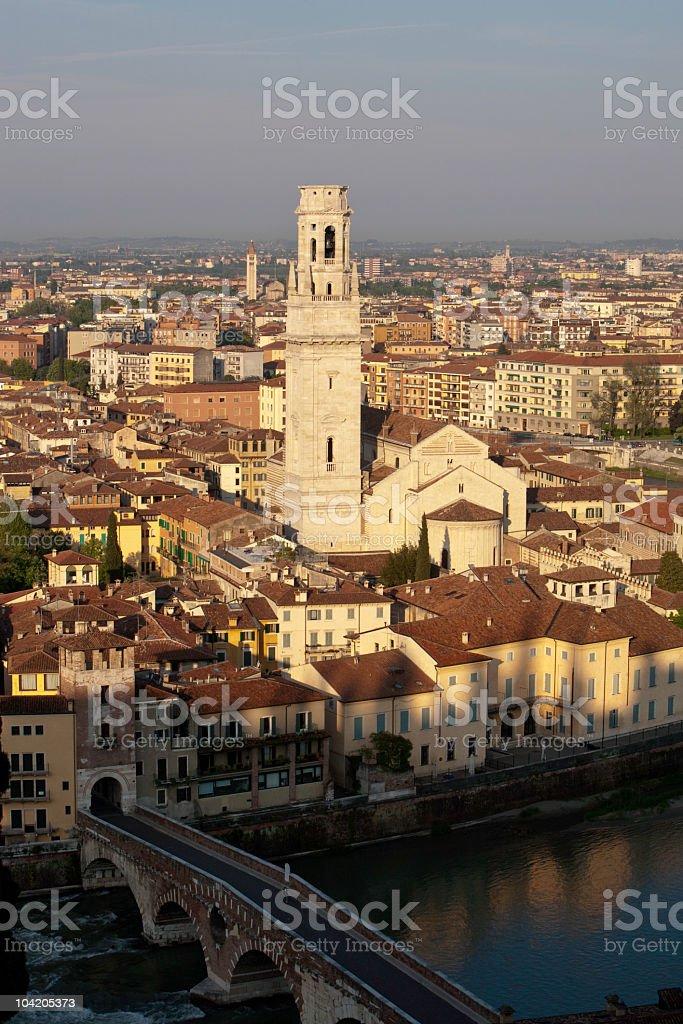 Verona at Sunrise stock photo