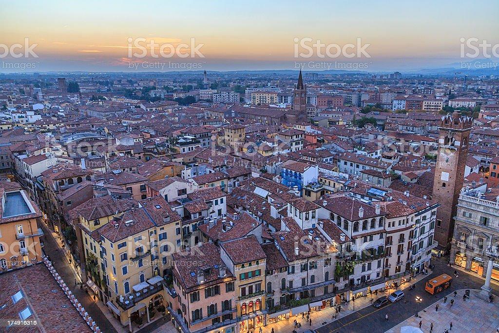 Verona at sunset royalty-free stock photo