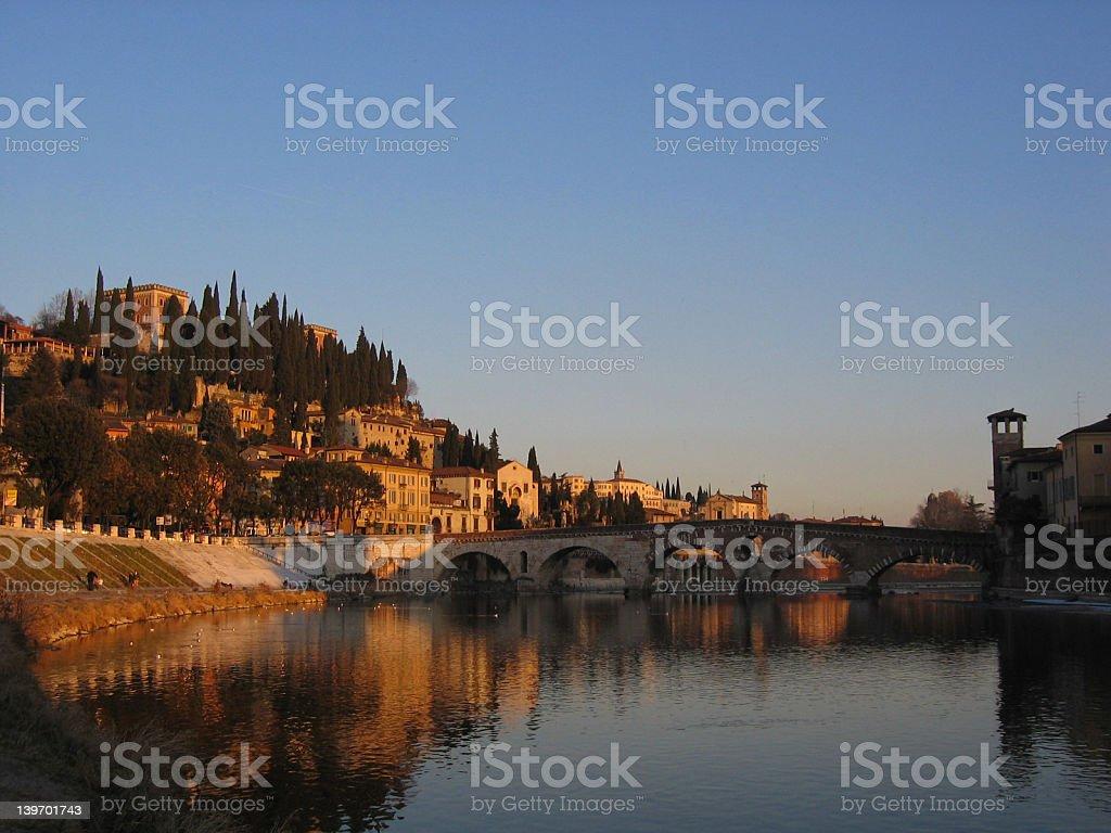 verona bridge, Italy royalty-free stock photo