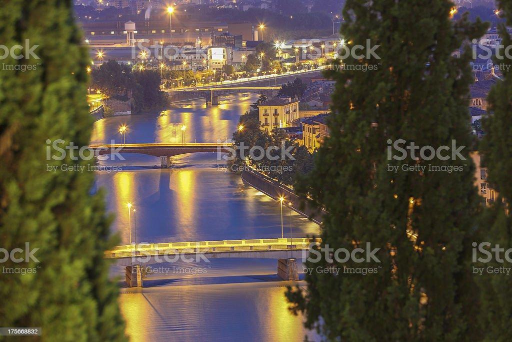 Verona by night - Italy royalty-free stock photo