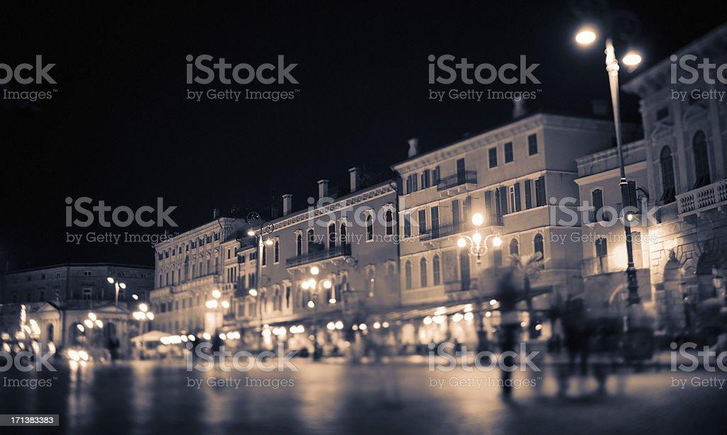 Verona by Night royalty-free stock photo