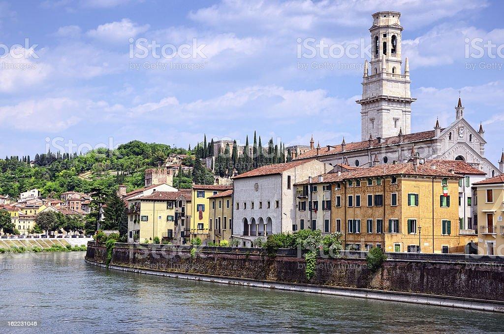 Verona Cathedral, Italy stock photo